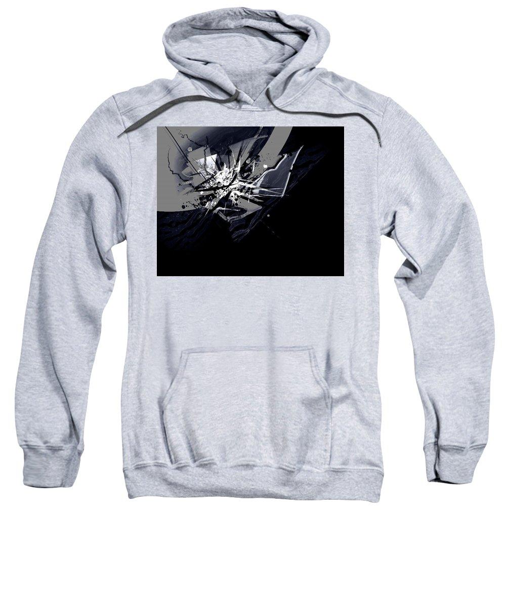 Dark Sweatshirt featuring the digital art Dark by Mery Moon