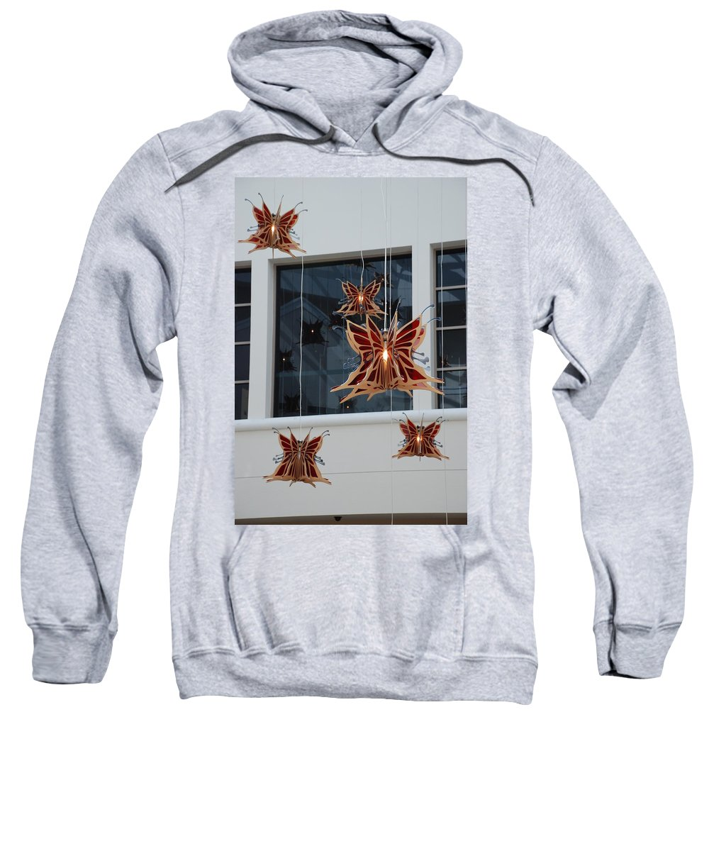 Architecture Sweatshirt featuring the photograph Hanging Butterflies by Rob Hans