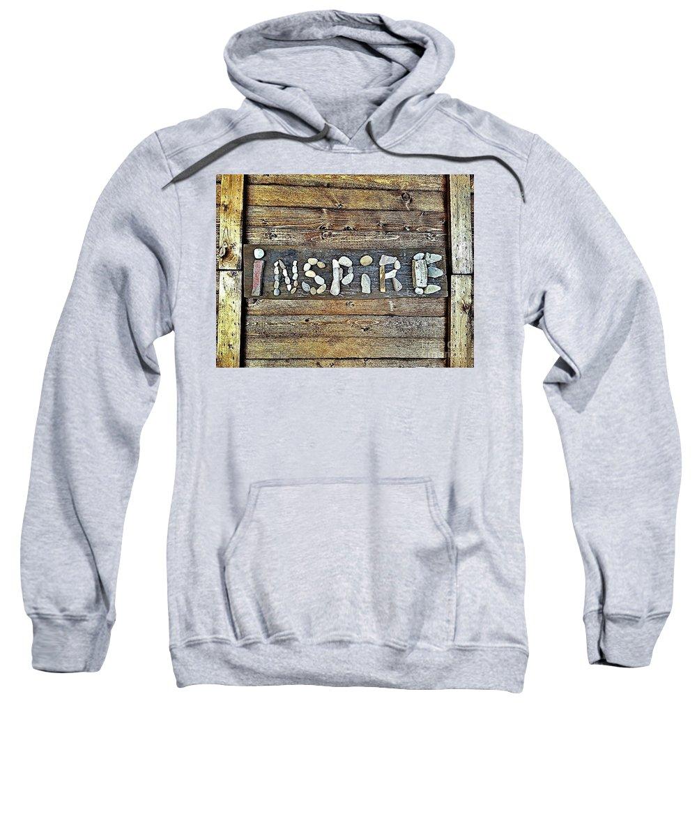 Inspire Sweatshirt featuring the photograph Inspiring Rock Art by Scott D Van Osdol