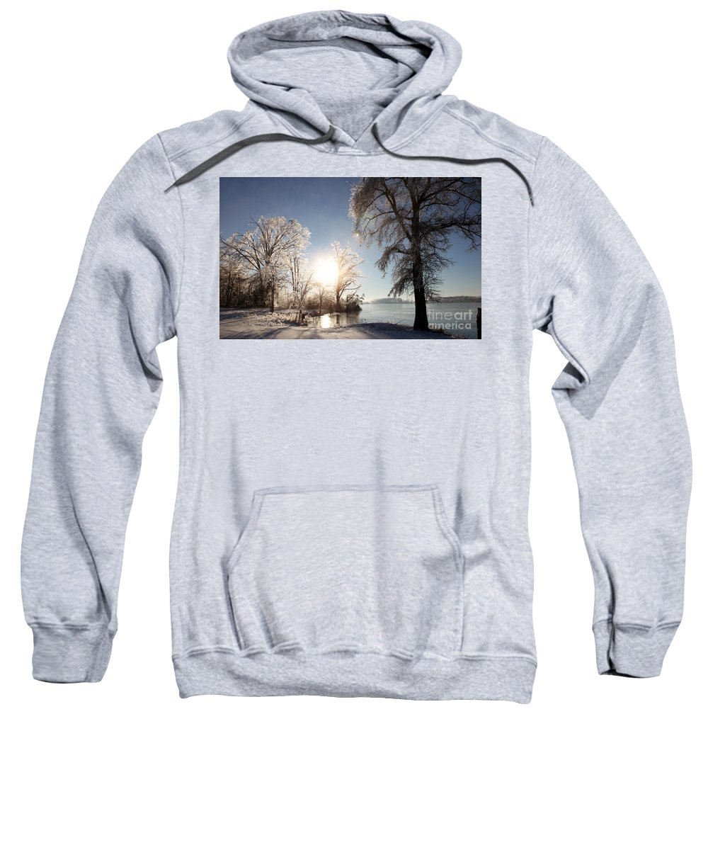 Tree Sweatshirt featuring the photograph Trees In Ice Series by Amanda Barcon