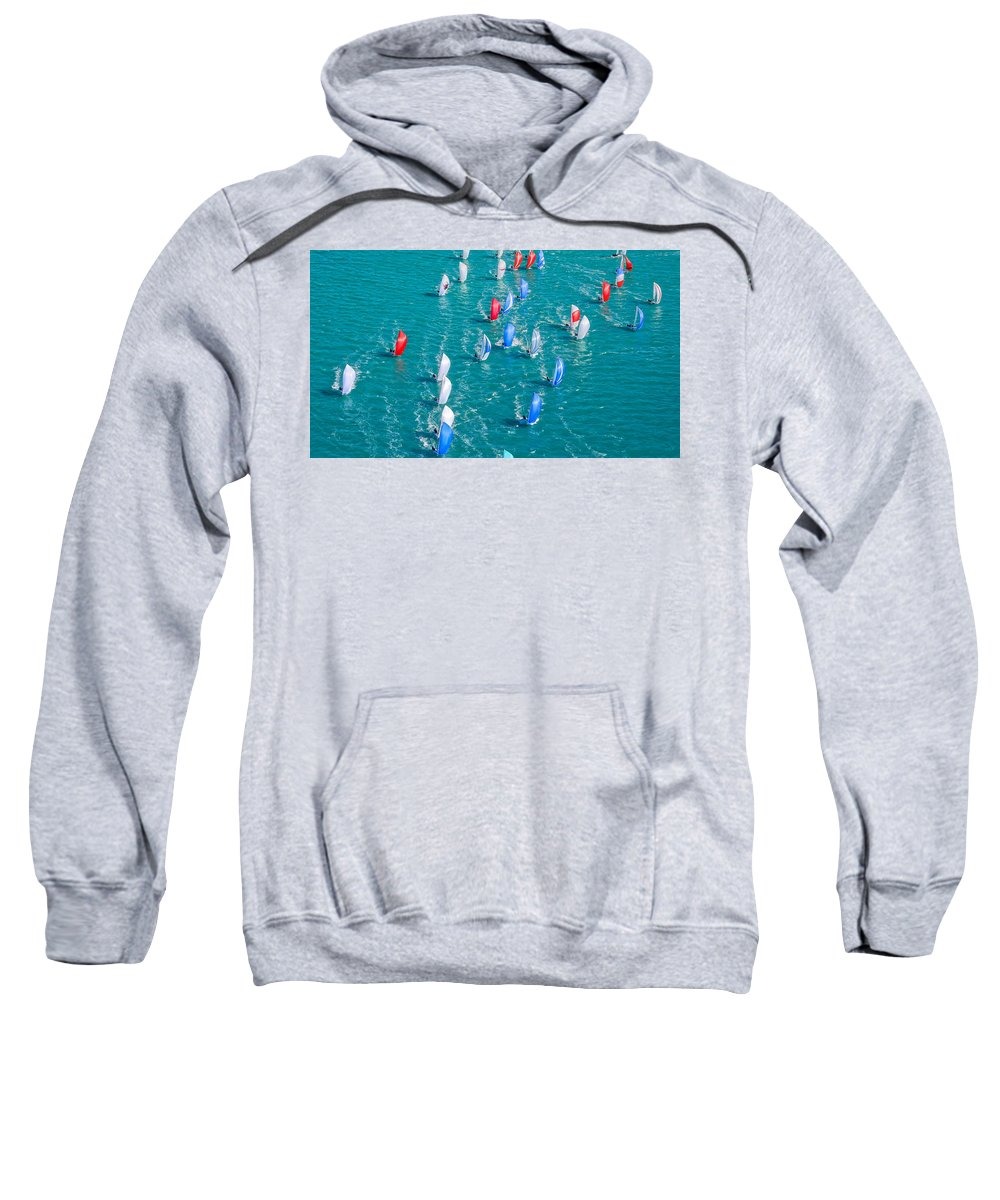Sail Sweatshirt featuring the photograph On High by Steven Lapkin