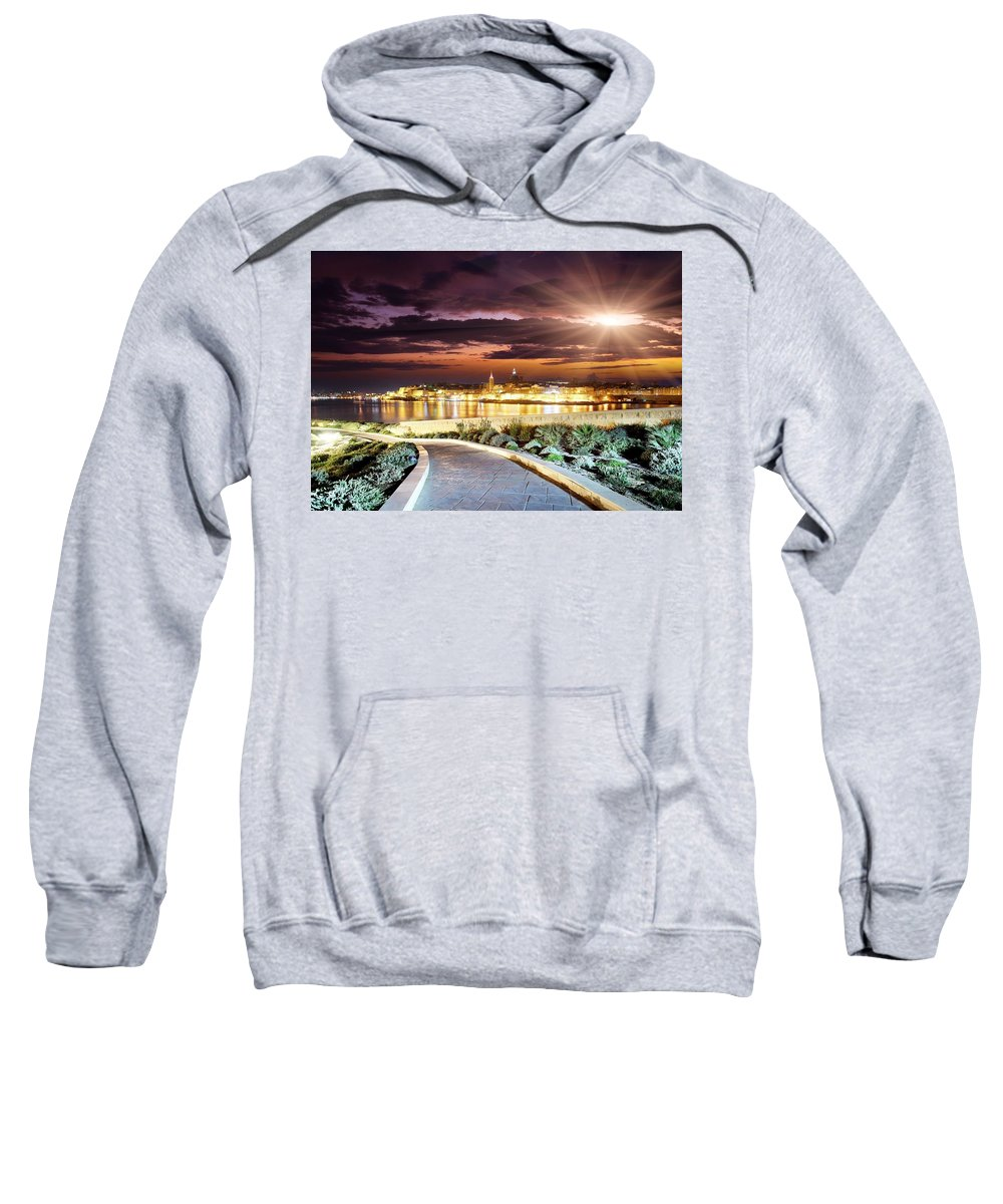 Road Sweatshirt featuring the digital art Road by Bert Mailer