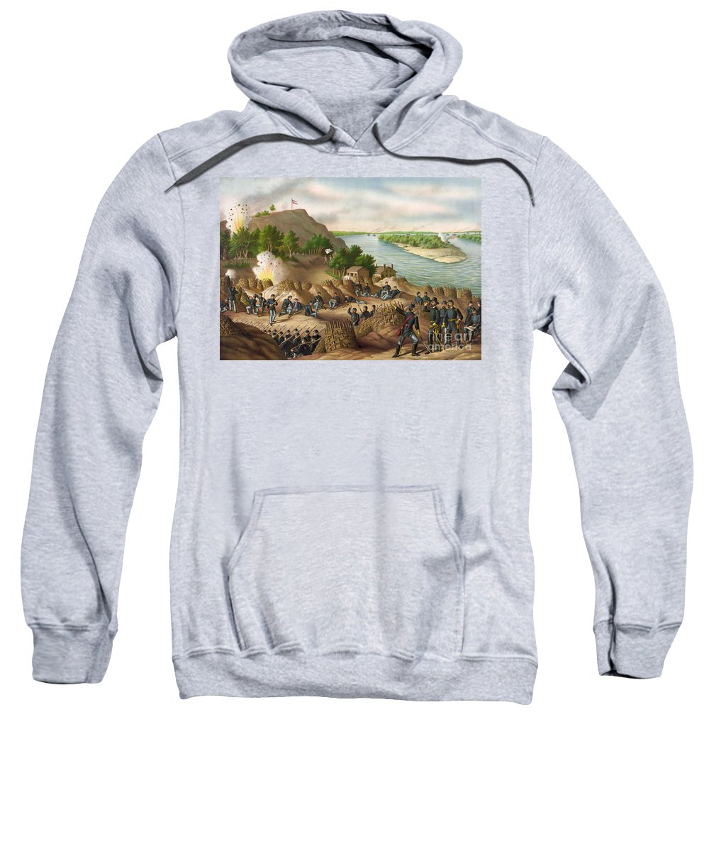 1863 Sweatshirt featuring the drawing Siege Of Vicksburg, 1863 by Granger