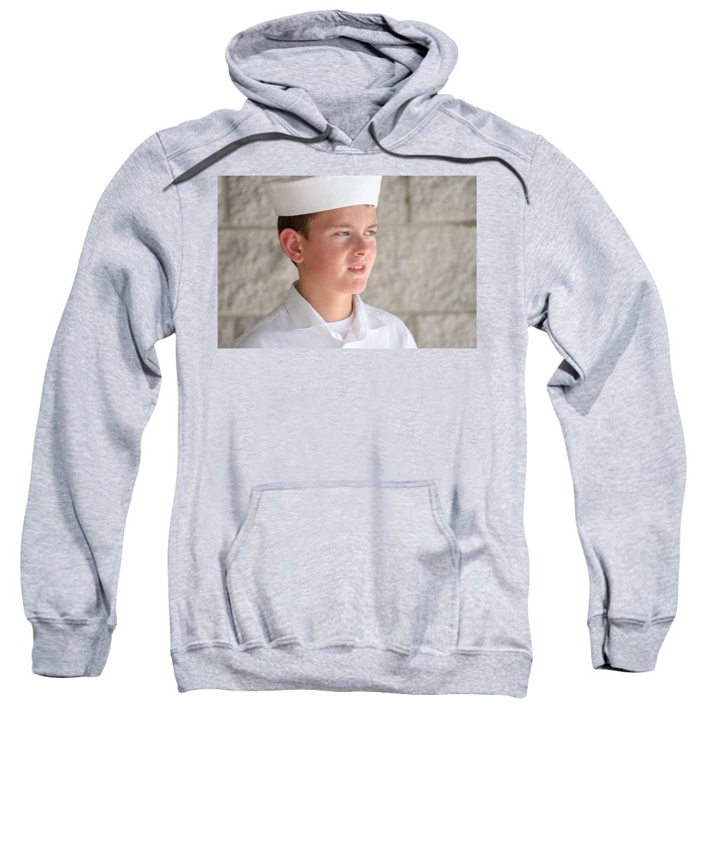 Us Sweatshirt featuring the photograph Us Naval Sea Cadet Corps - Gulf Eagle Division, Florida by Timothy Wildey