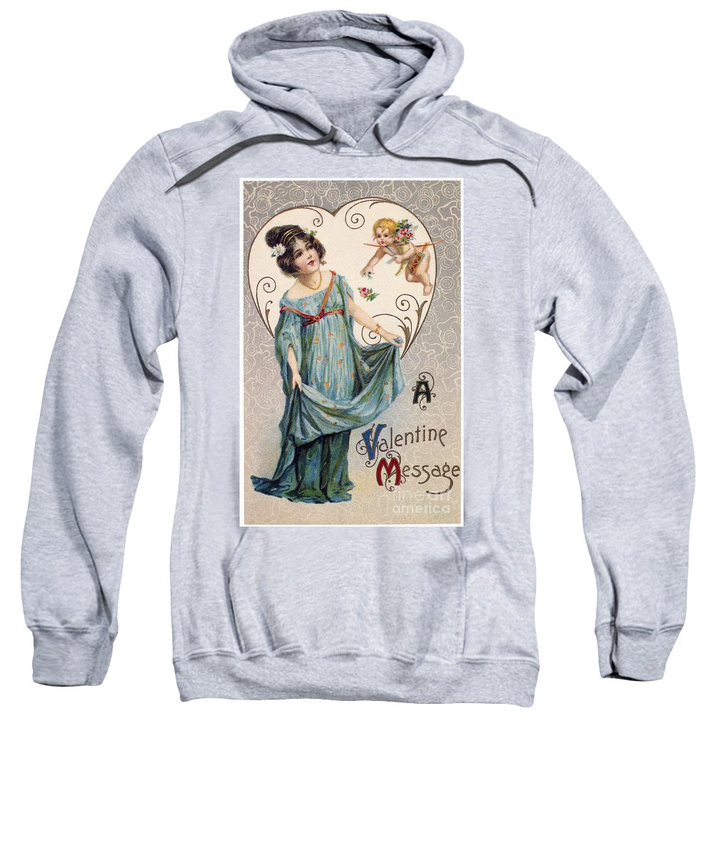 1915 Sweatshirt featuring the photograph Valentines Day Card by Granger