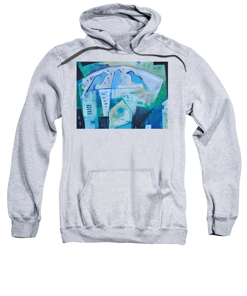 Birds Sweatshirt featuring the painting A Birds Life by Tim Nyberg