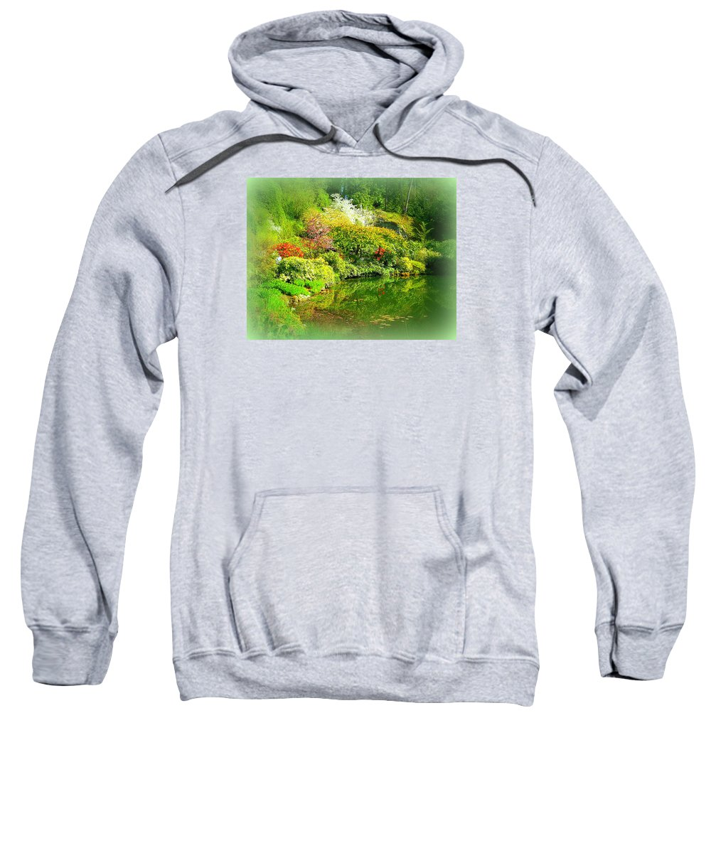 Japanese Sweatshirt featuring the photograph A Bright Garden by Maro Kentros