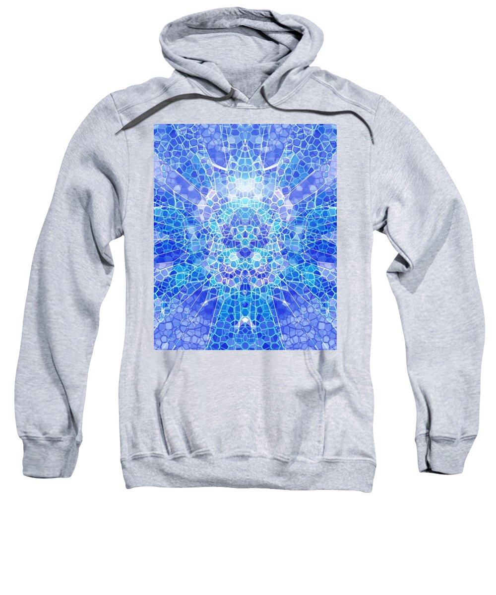 Abstract Sweatshirt featuring the digital art A Brilliant Mind by Mark Sellers