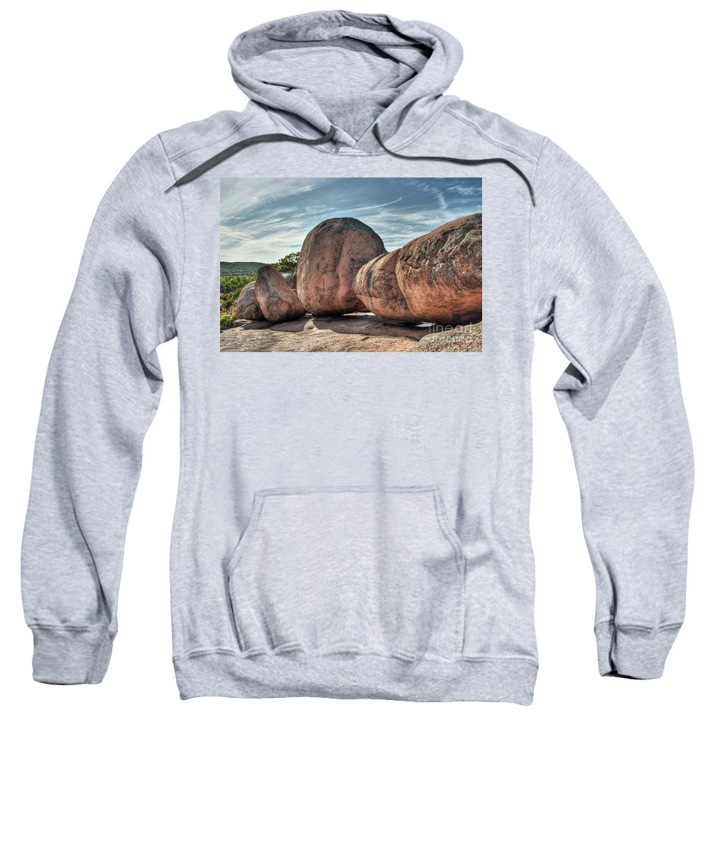 2009 Sweatshirt featuring the photograph A Bunch Of Bolders by Larry Braun