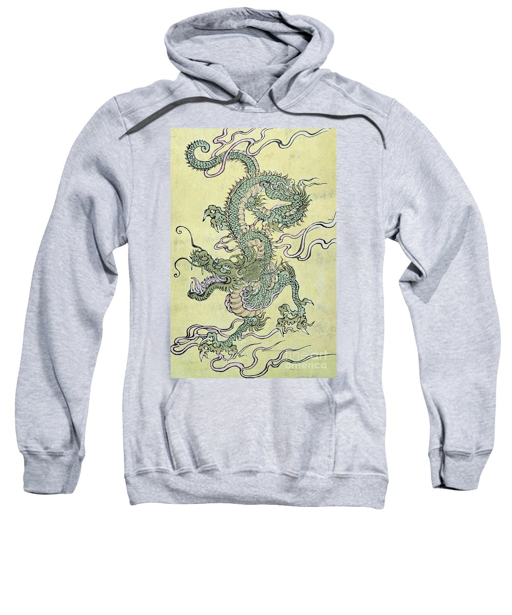 Dragon Sweatshirt featuring the painting A Chinese Dragon by Chinese School
