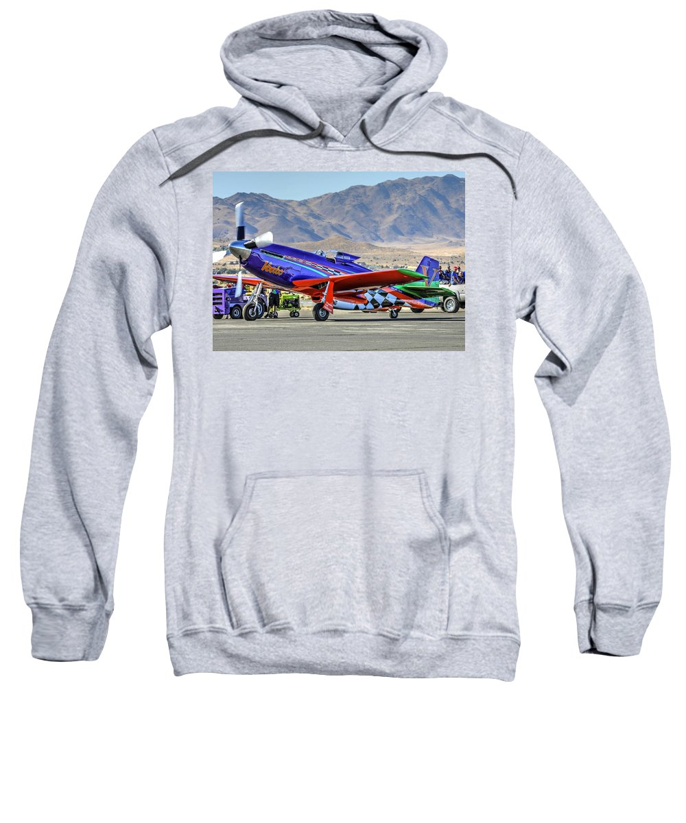 A Closer Look At Voodoo Engine Start Sweatshirt featuring the photograph A Closer Look At Voodoo Engine Start Sundays Unlimited Gold Race by John King