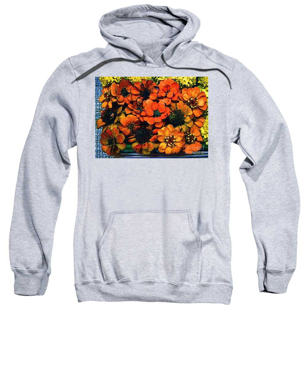 Flowers Sweatshirt featuring the painting A Collation Of Brilliance by RC DeWinter