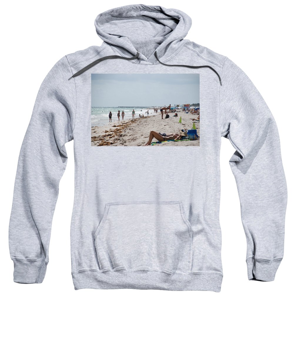 Nude Sweatshirt featuring the photograph A Day At Paradise Beach by Rob Hans