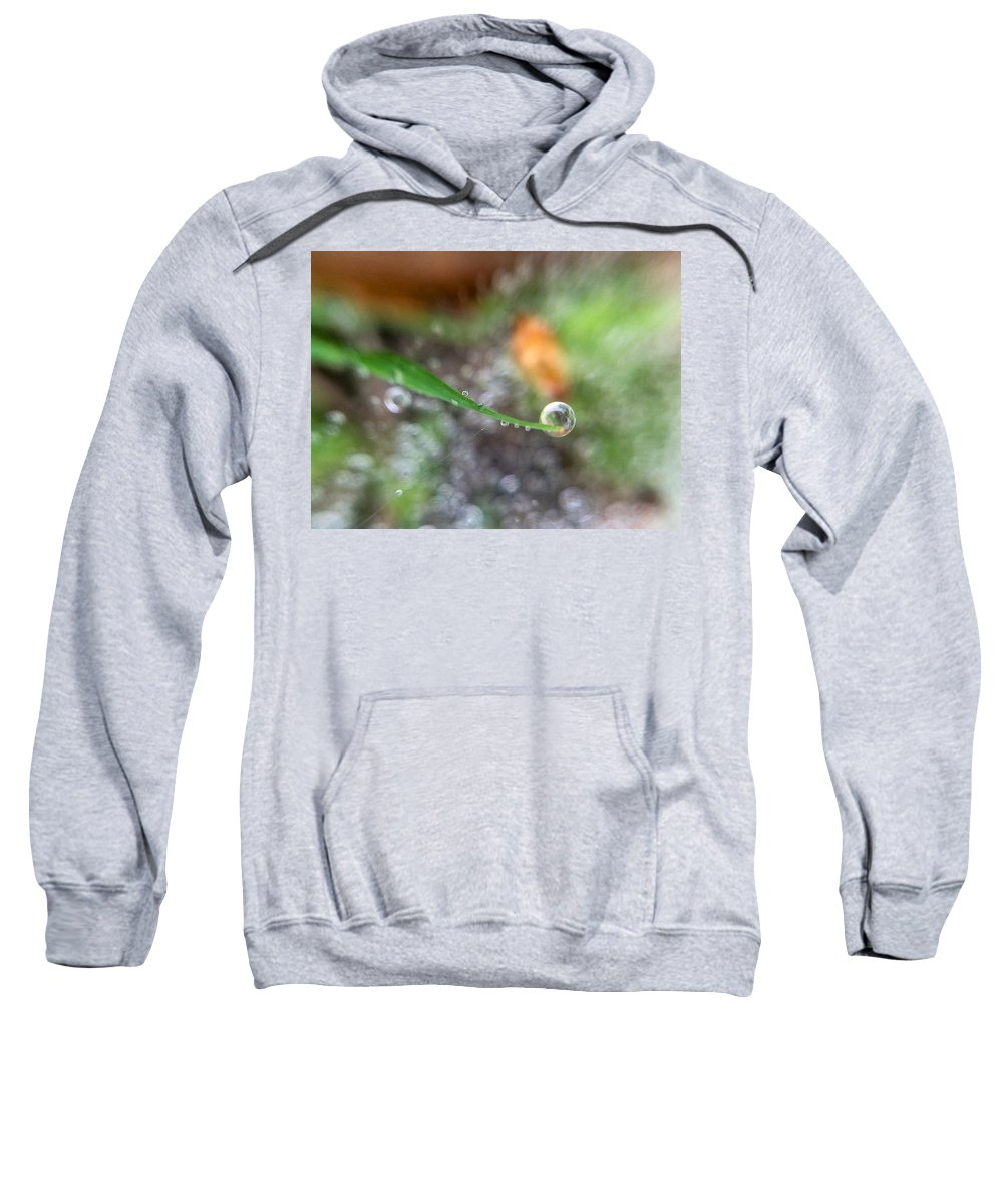 Drop Sweatshirt featuring the photograph A Drop In Time by Cheryl Beck