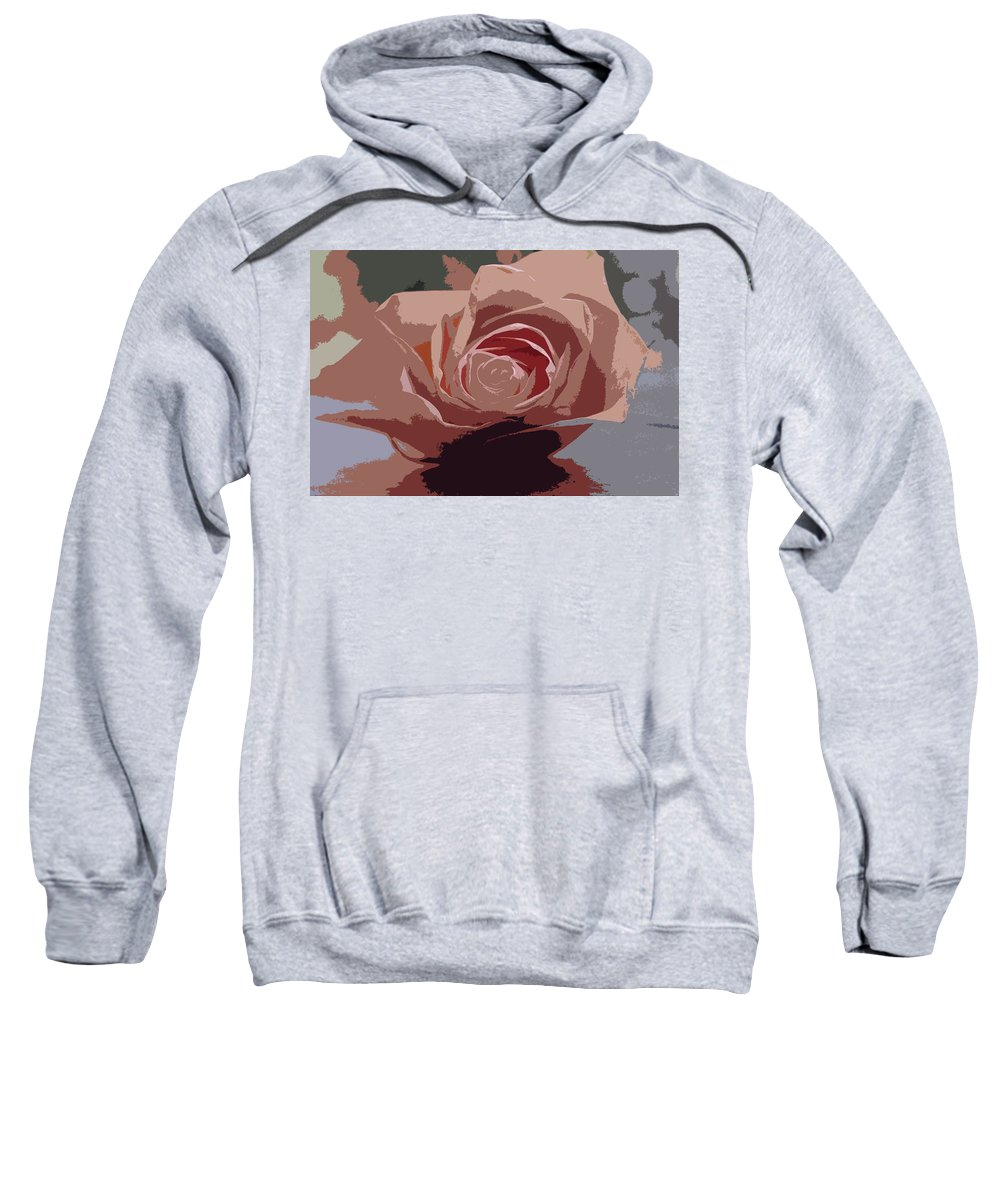 Pink Sweatshirt featuring the photograph A Dusty Rose-d by Michiale Schneider