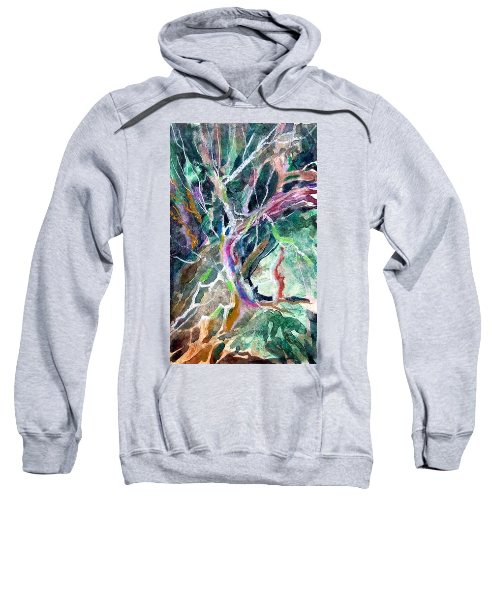 Tree Sweatshirt featuring the painting A Dying Tree by Mindy Newman