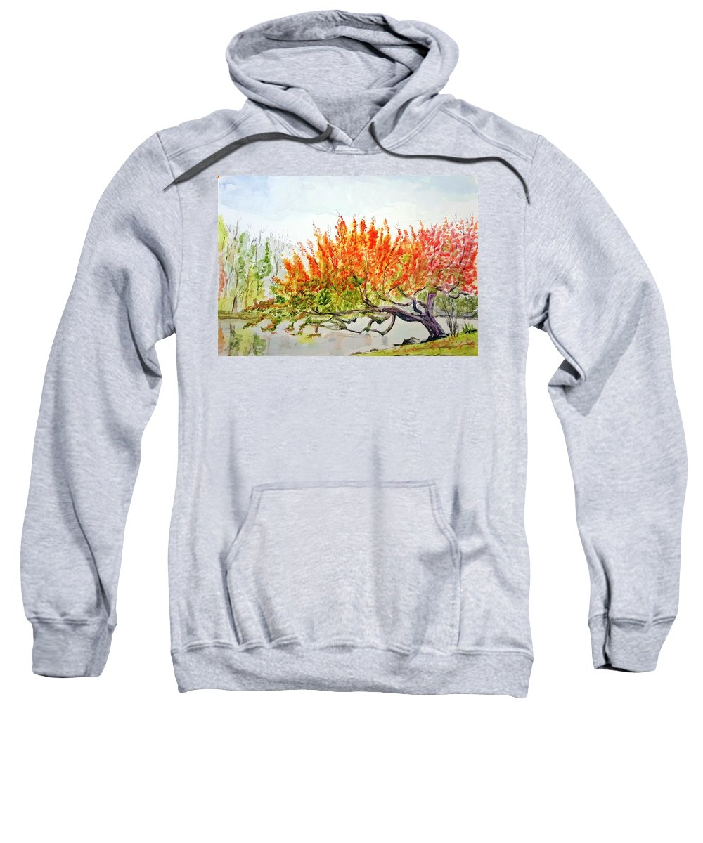 Tree Sweatshirt featuring the painting A Graceful Bow by Steve Duke - Artist