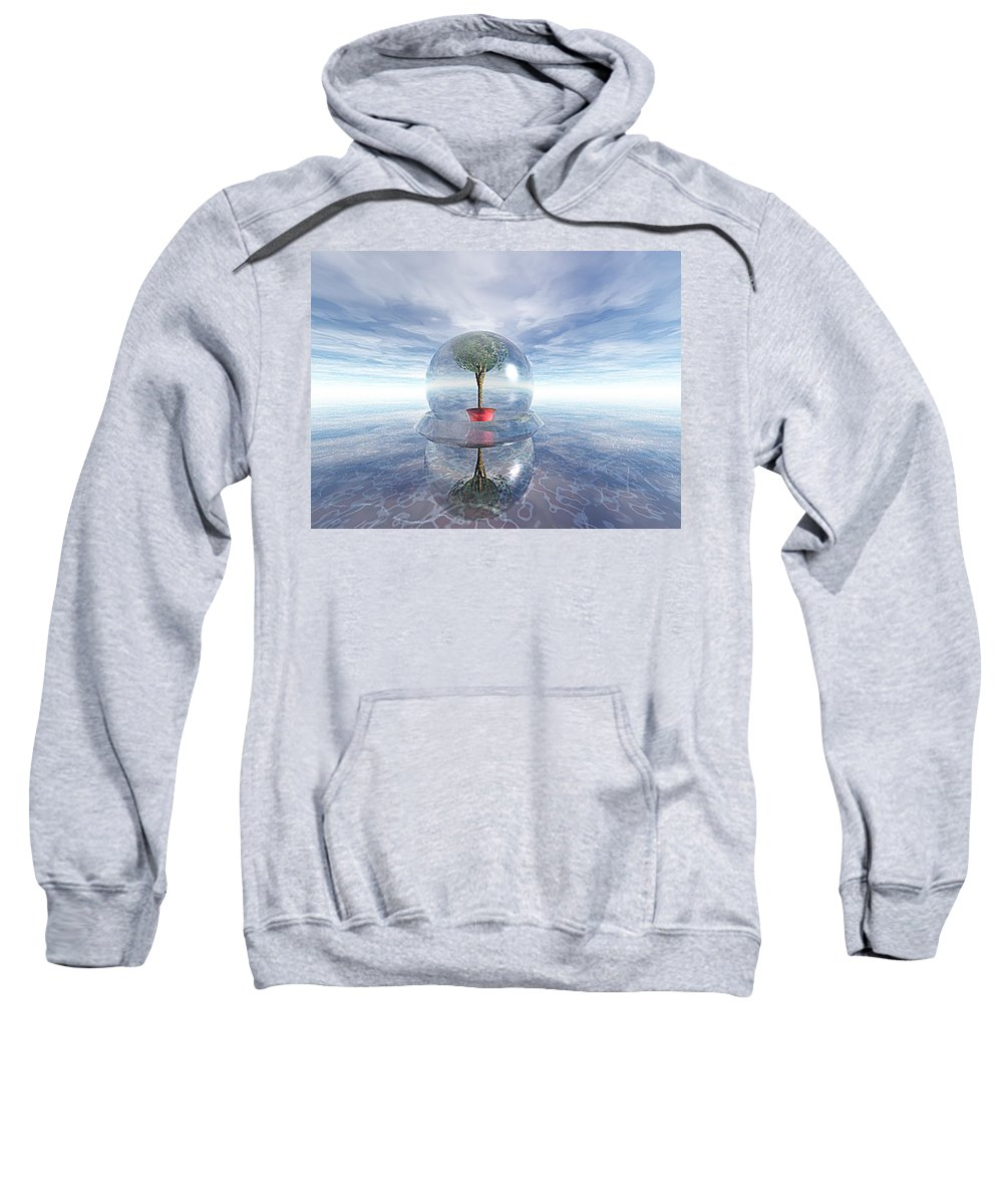 Surreal Sweatshirt featuring the digital art A Healing Environment by Oscar Basurto Carbonell