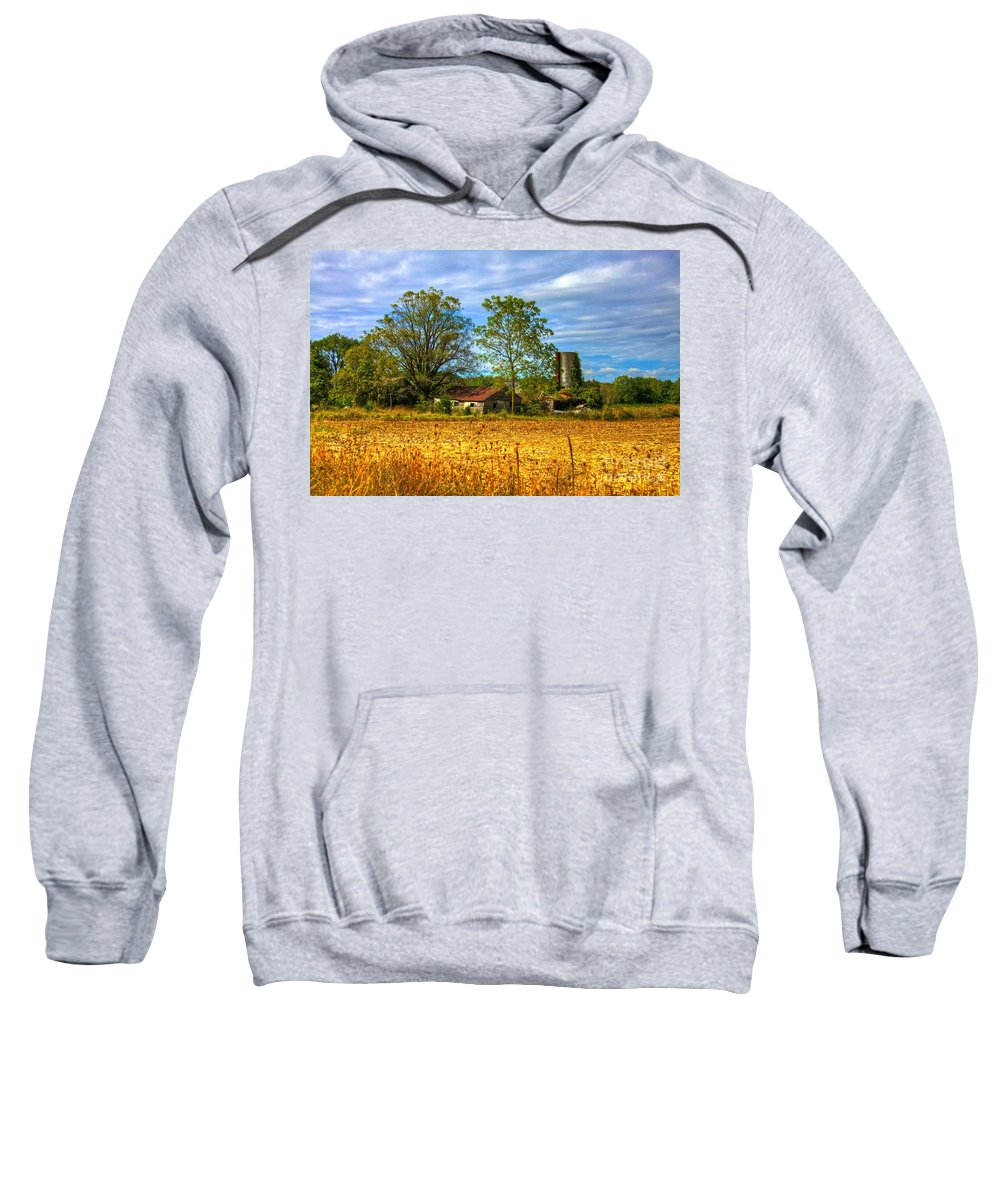 Old Barn Sweatshirt featuring the photograph A History Lesson by Robert Pearson