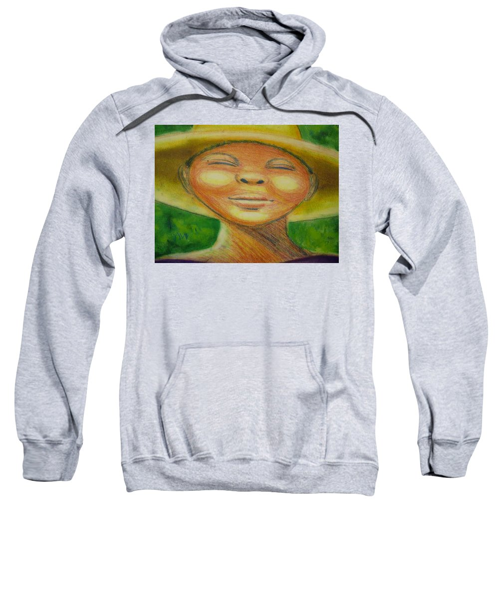 Drawing Sweatshirt featuring the drawing A Hot Summer Day by Jan Gilmore