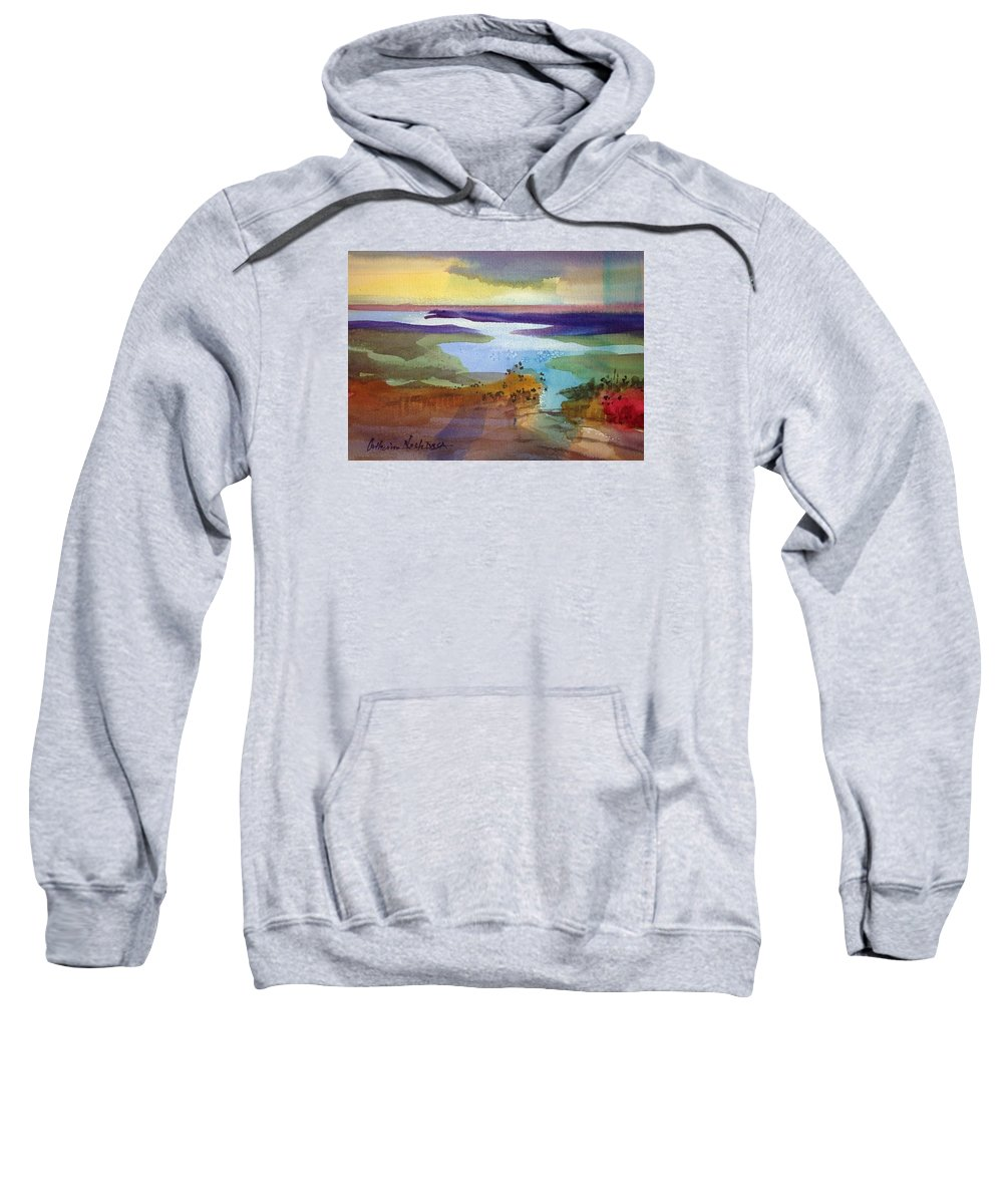 Landscape Sweatshirt featuring the painting A Journey Through Water by Catherine Nash