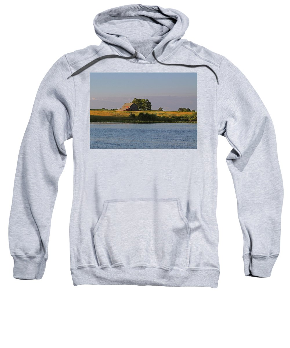 Related Tags: Farms Artwork Sweatshirt featuring the photograph A June Evening by Robert Pearson