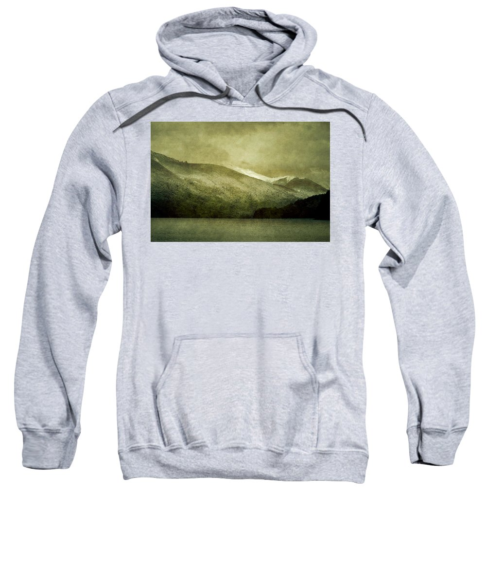 Argentina Sweatshirt featuring the photograph A Lake In Patagonia by Osvaldo Hamer
