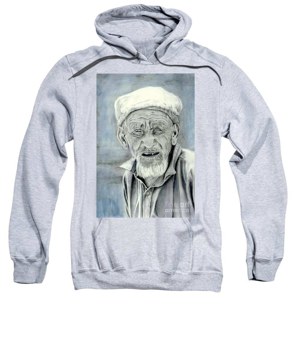 Figurative Art Sweatshirt featuring the painting A Life Time by Portraits By NC
