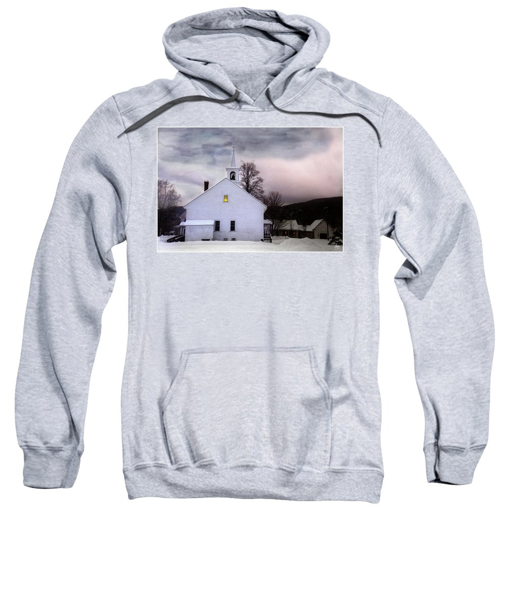 Light Sweatshirt featuring the photograph A Light In The Old Church by Wayne King