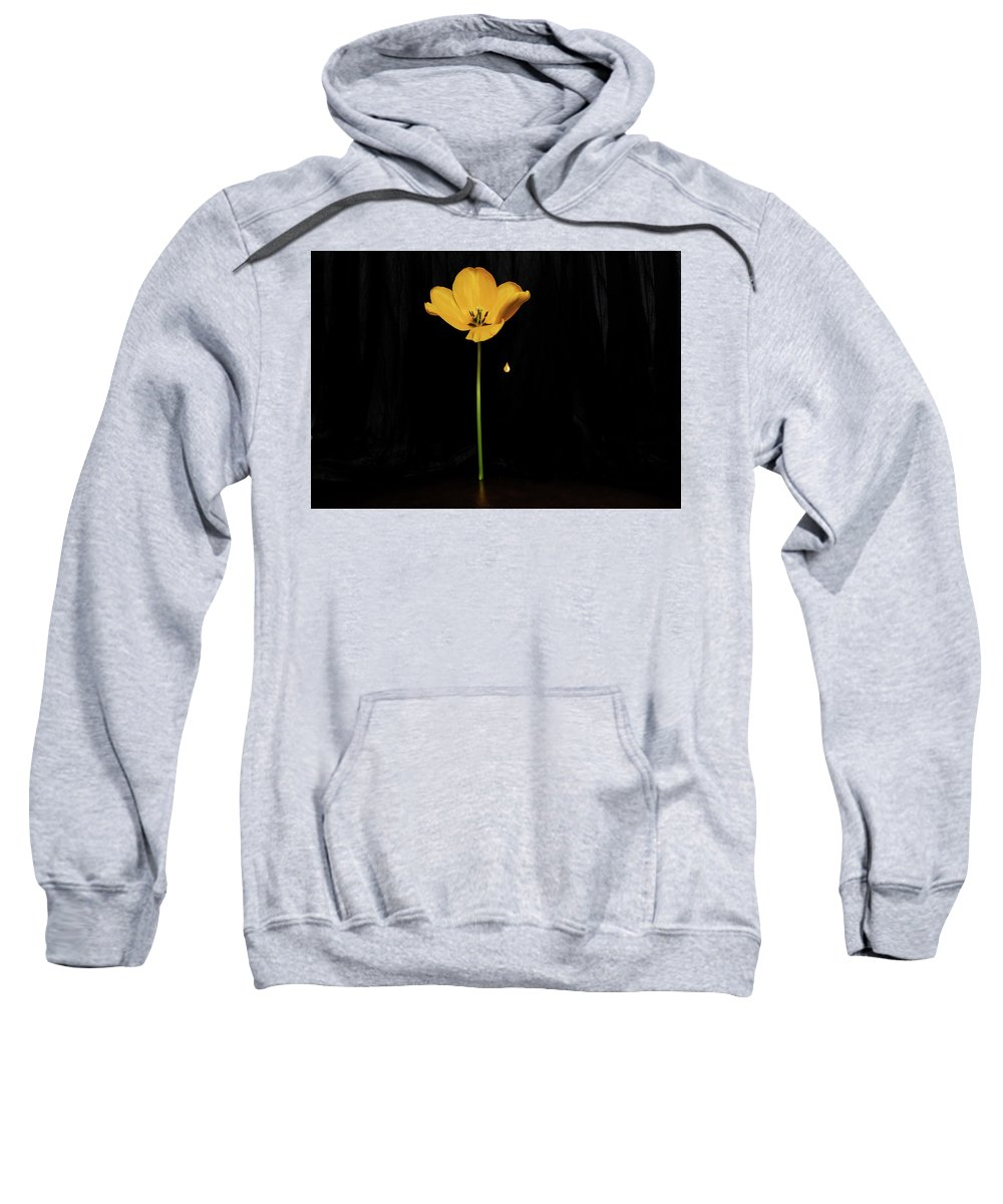 Dark Sweatshirt featuring the photograph A Light In The Dark by Ludmila SHUMILOVA