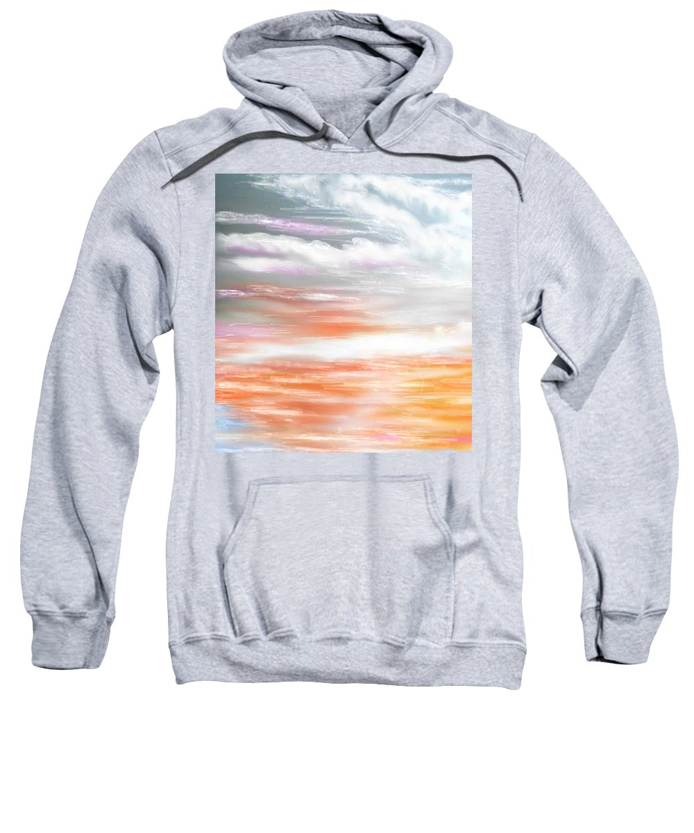 Inspirational Art Sweatshirt featuring the digital art A Light Unto My Path by Brenda L Spencer
