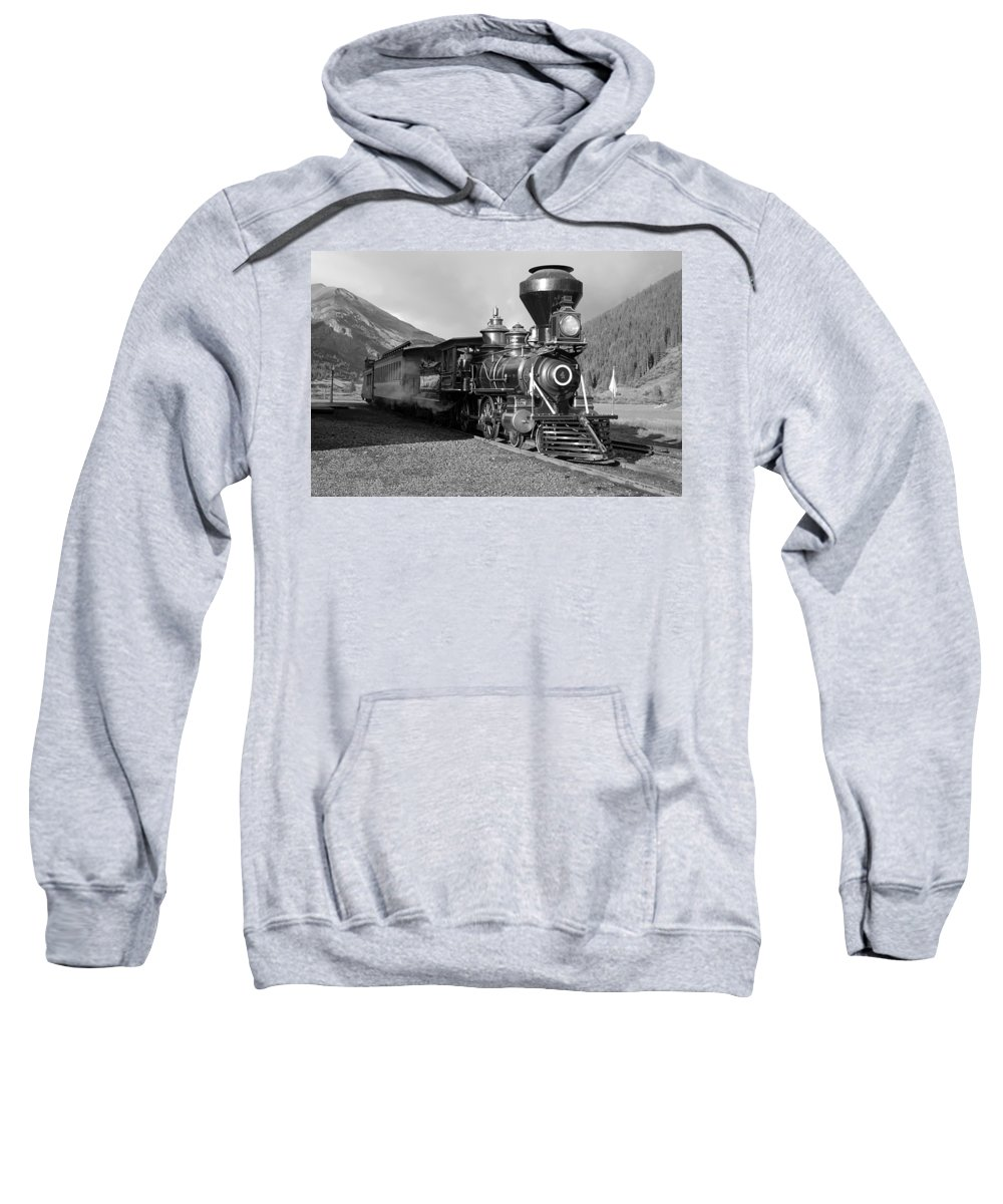 Steam Train Photographs Photographs Photographs Sweatshirt featuring the photograph A Look Of The Past by Ken Smith