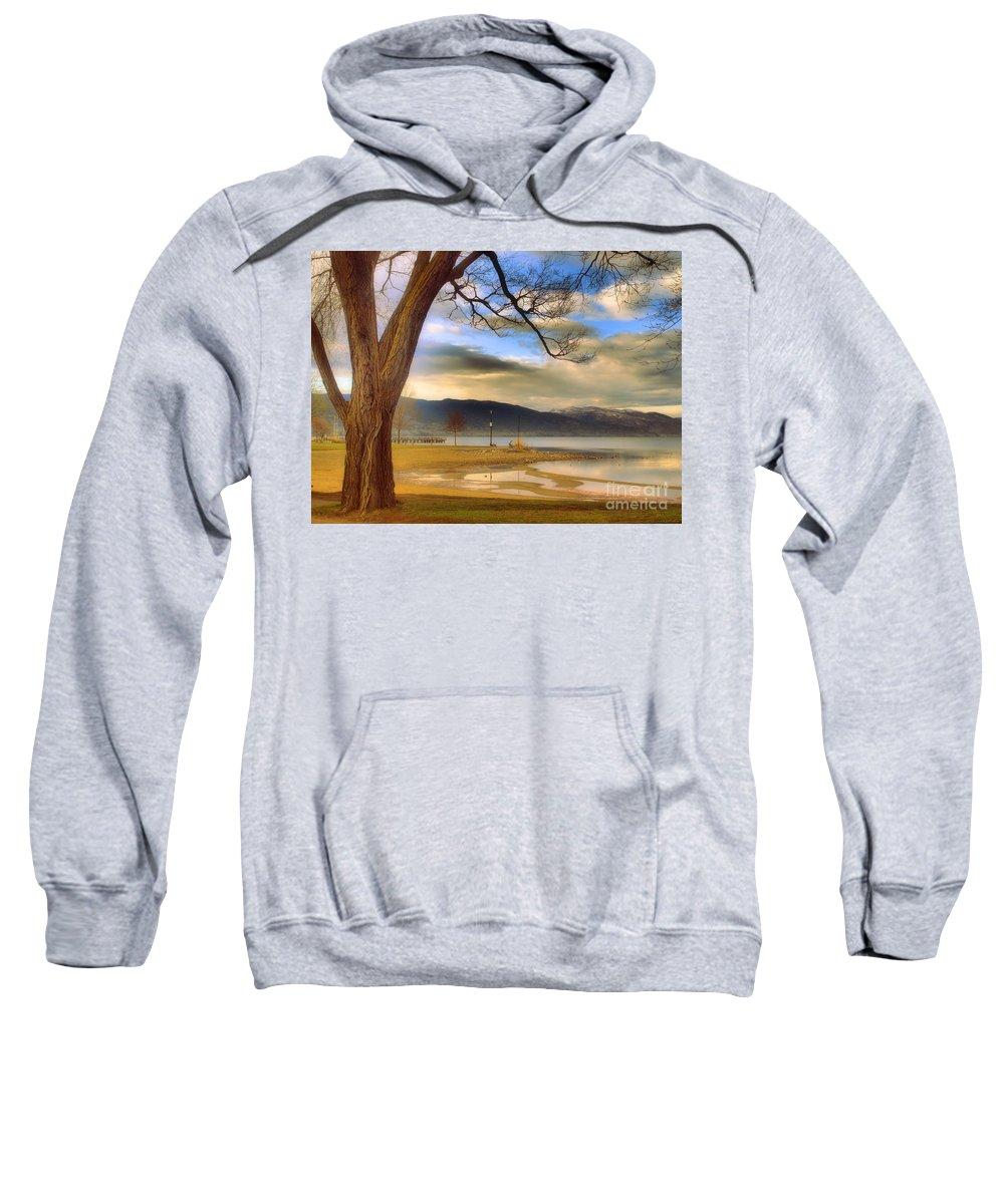 Okanagan Sweatshirt featuring the photograph A March Morning by Tara Turner
