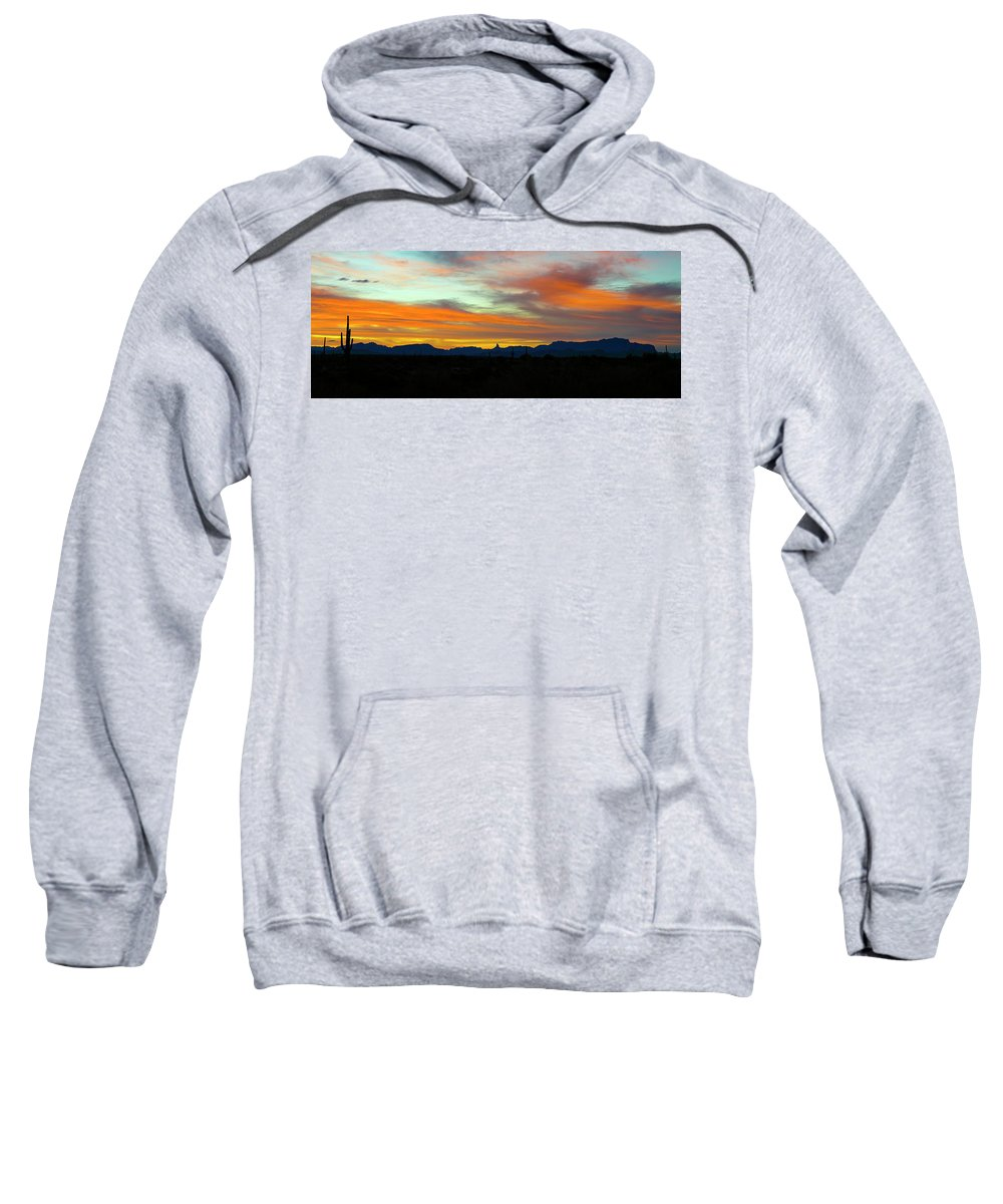 Arizona Sweatshirt featuring the photograph A Painted Morning Sky by Cathy Franklin