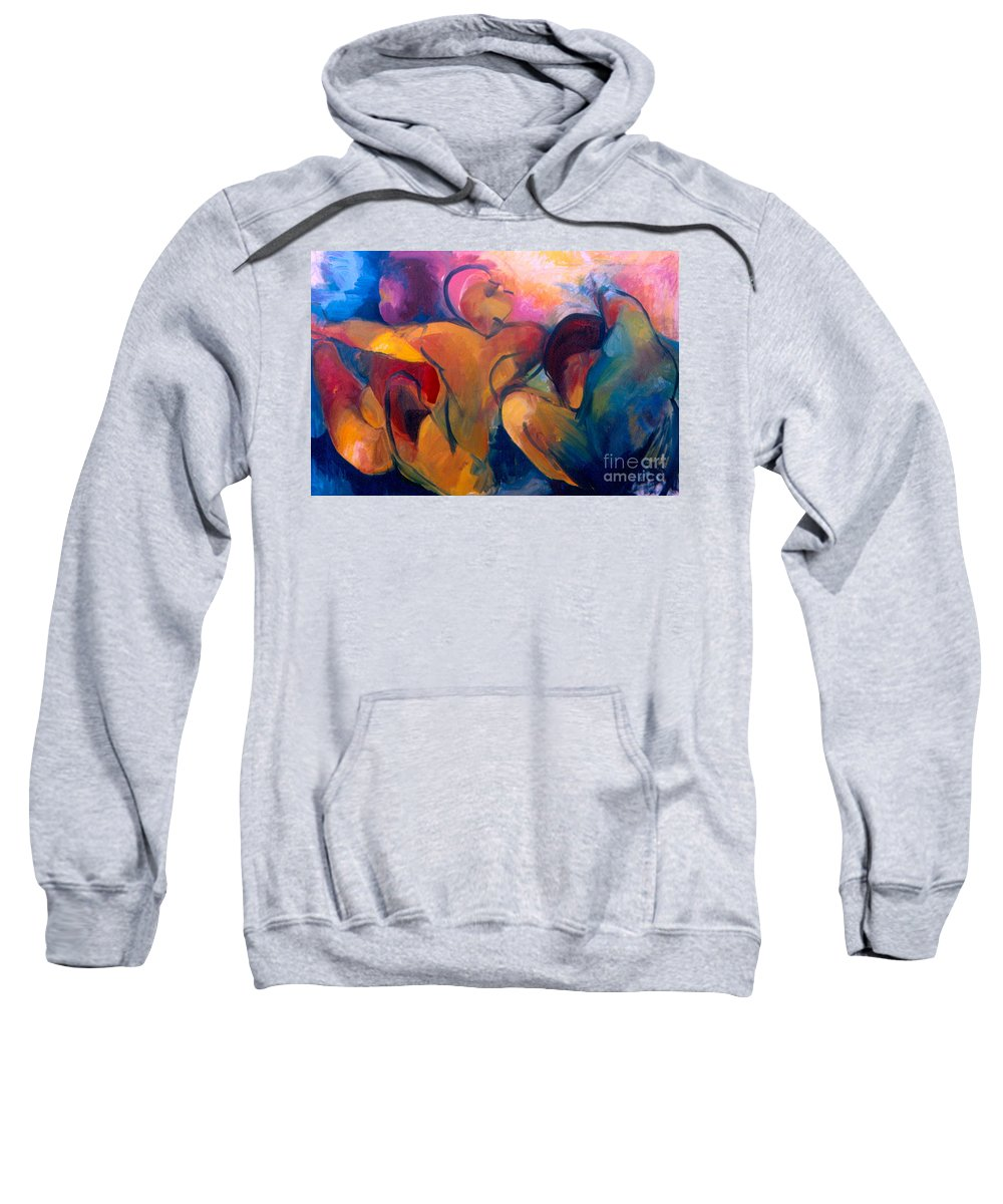 Oil Painting Sweatshirt featuring the painting A Passion To Be Raised by Daun Soden-Greene