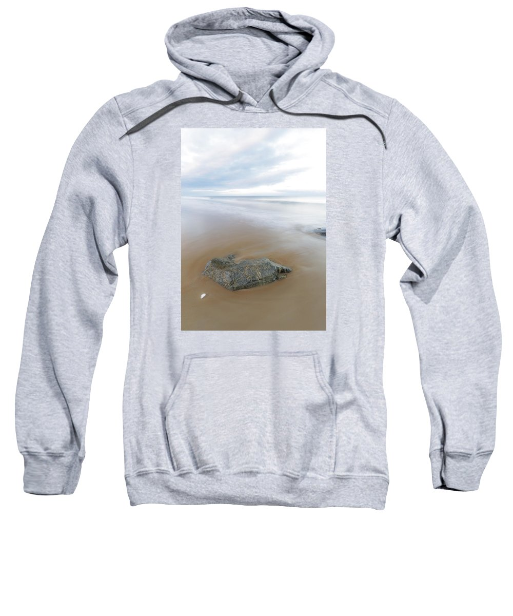 New England Sweatshirt featuring the photograph A Pastel Afternoon At Plum Island by Scott Snyder