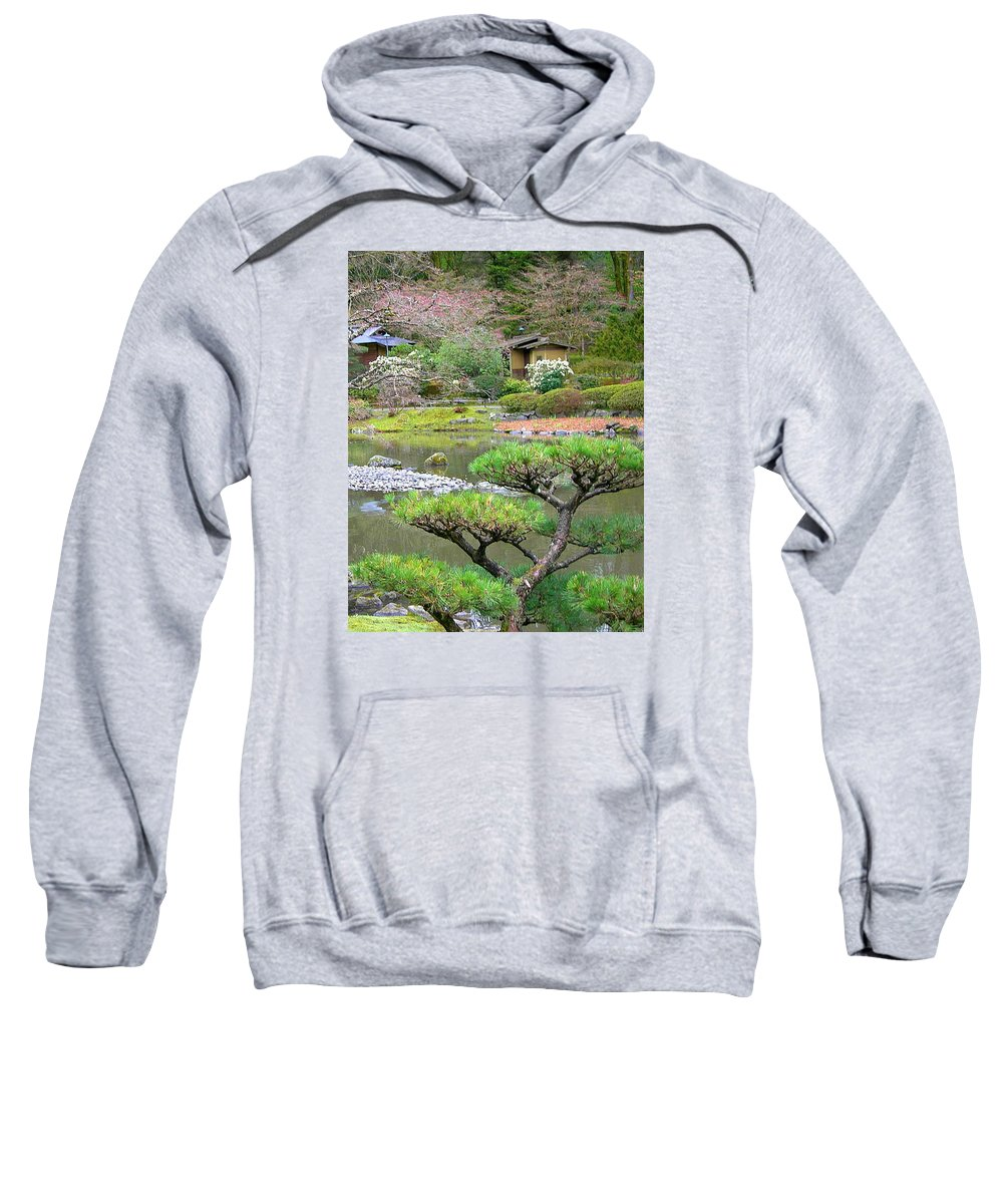 Japanese Sweatshirt featuring the photograph A Perfect Garden by Maro Kentros
