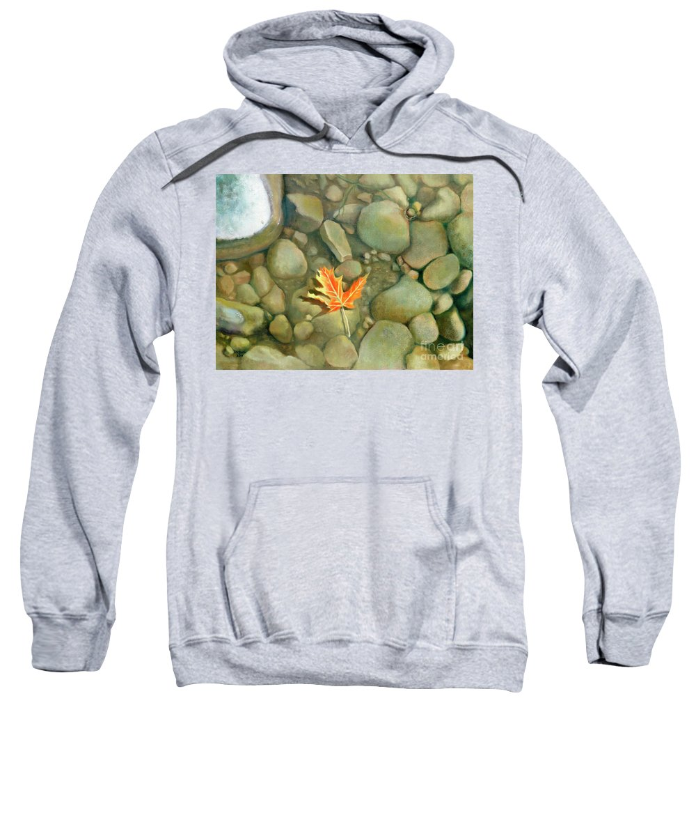Rocks Sweatshirt featuring the painting A Perfect Serenity by Marlene Book