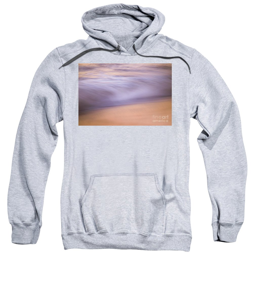 Waves Sweatshirt featuring the photograph A Purple Soft Sea by Jeanne McGee