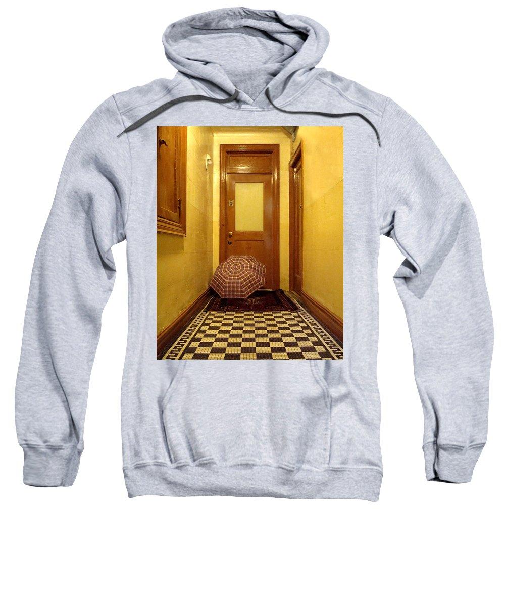 Wood Sweatshirt featuring the photograph A Rainy Day In Astoria by Joseph Mari