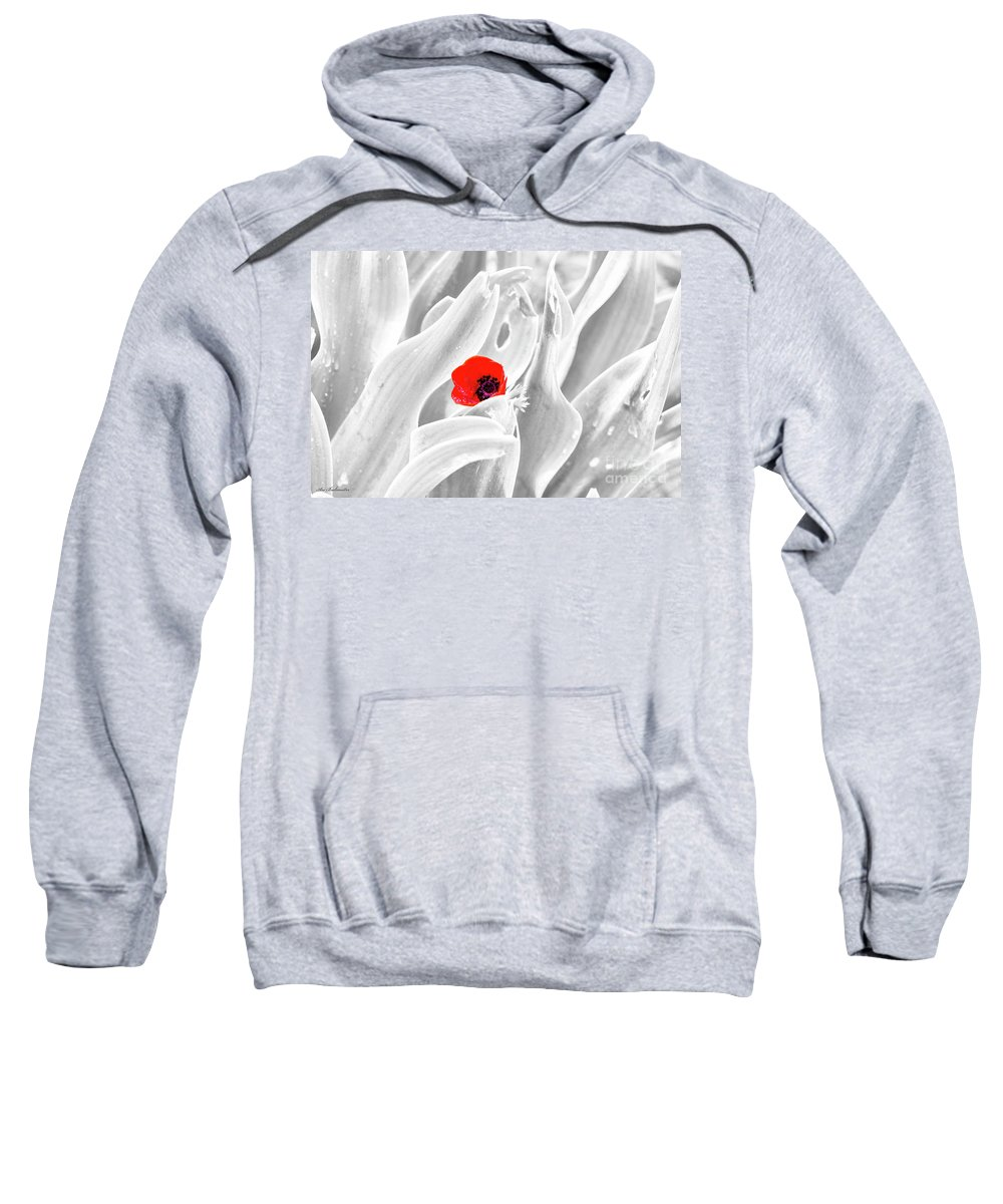 Background Sweatshirt featuring the photograph A Red Dot by Arik Baltinester