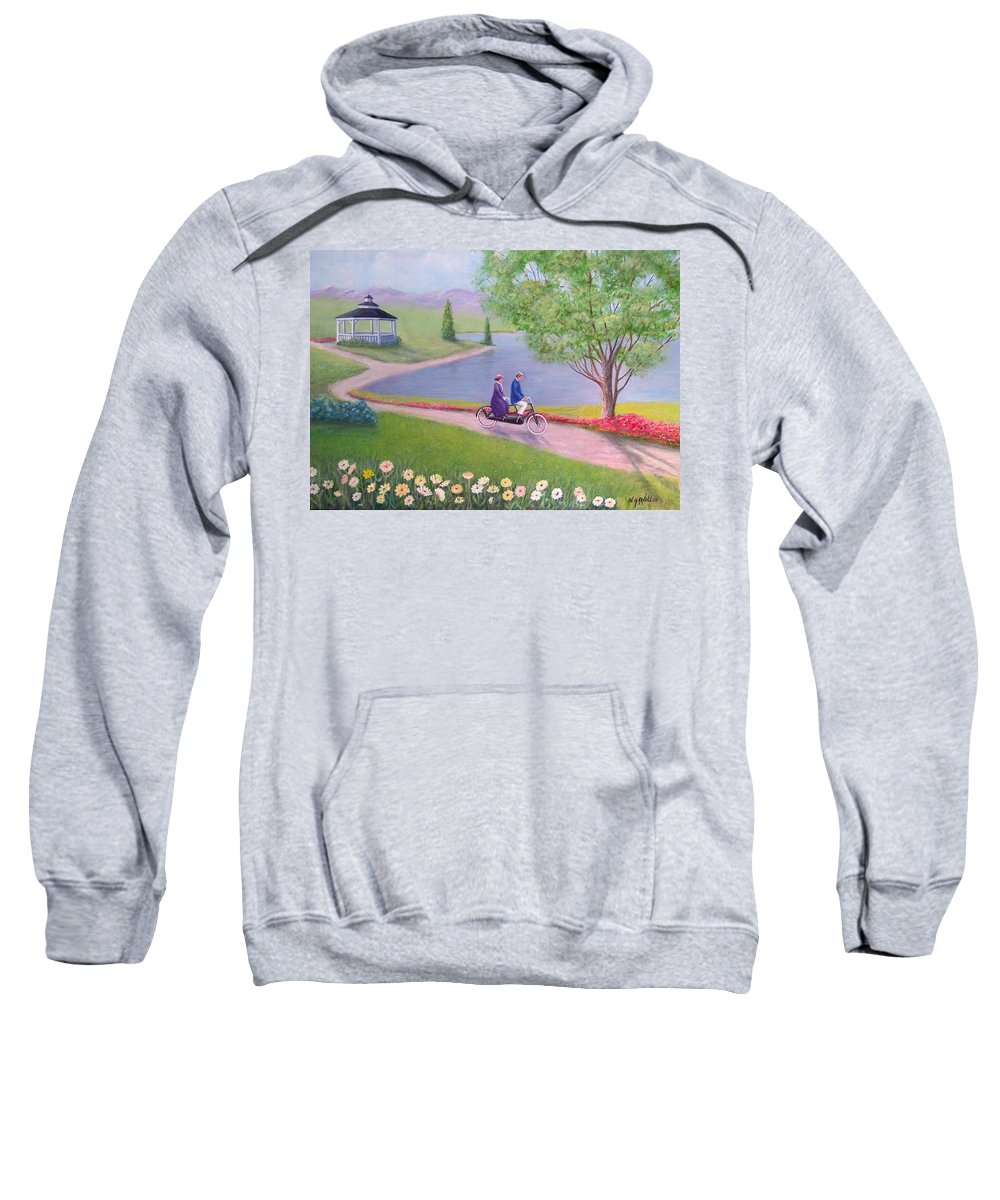 Landscape Sweatshirt featuring the painting A Ride In The Park by William H RaVell III