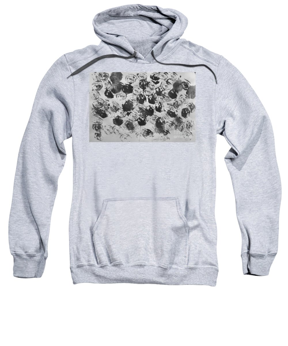 Abstract Sweatshirt featuring the painting A Rose Is A Rose by Jamey Balester