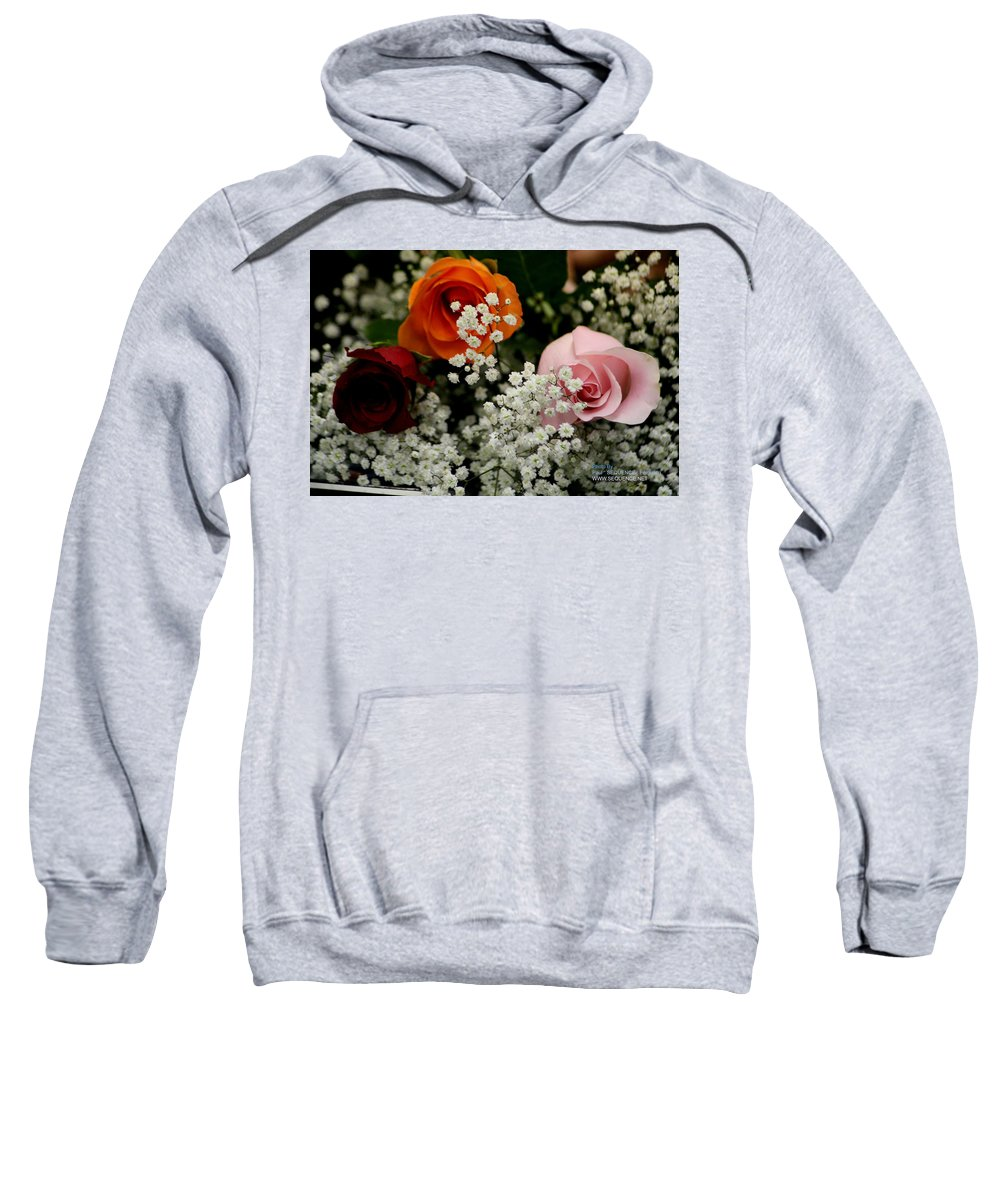 Rose Sweatshirt featuring the photograph A Rose To You by Paul SEQUENCE Ferguson       sequence dot net