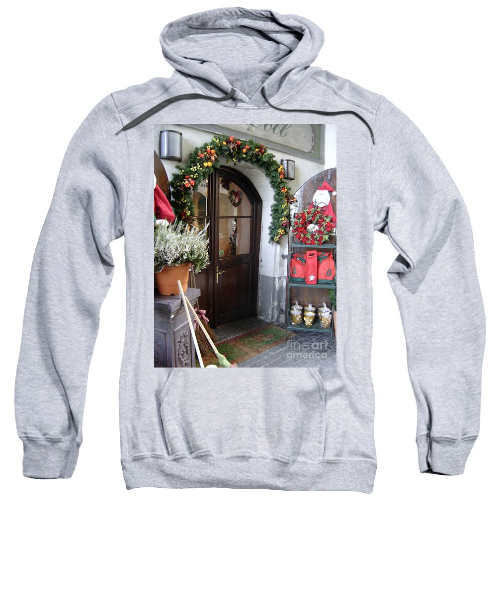 Santa Sweatshirt featuring the photograph A Salzburg Christmas by Mary Rogers