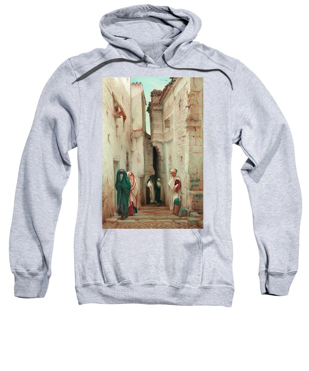 A Secret Admirer Sweatshirt featuring the painting A Secret Admirer by Guillaume Charles Brun