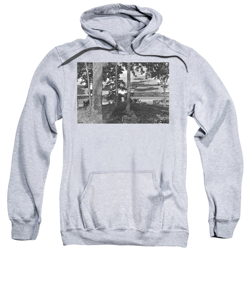 A Sketchy Sunset Sweatshirt featuring the photograph A Sketchy Sunset by Lisa Wooten
