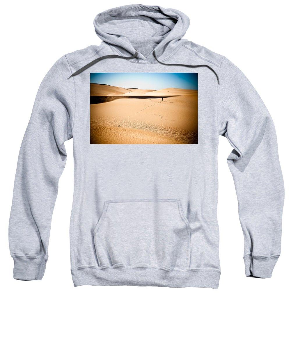 Sand Sweatshirt featuring the photograph A Solitary Walk by Scott Sawyer