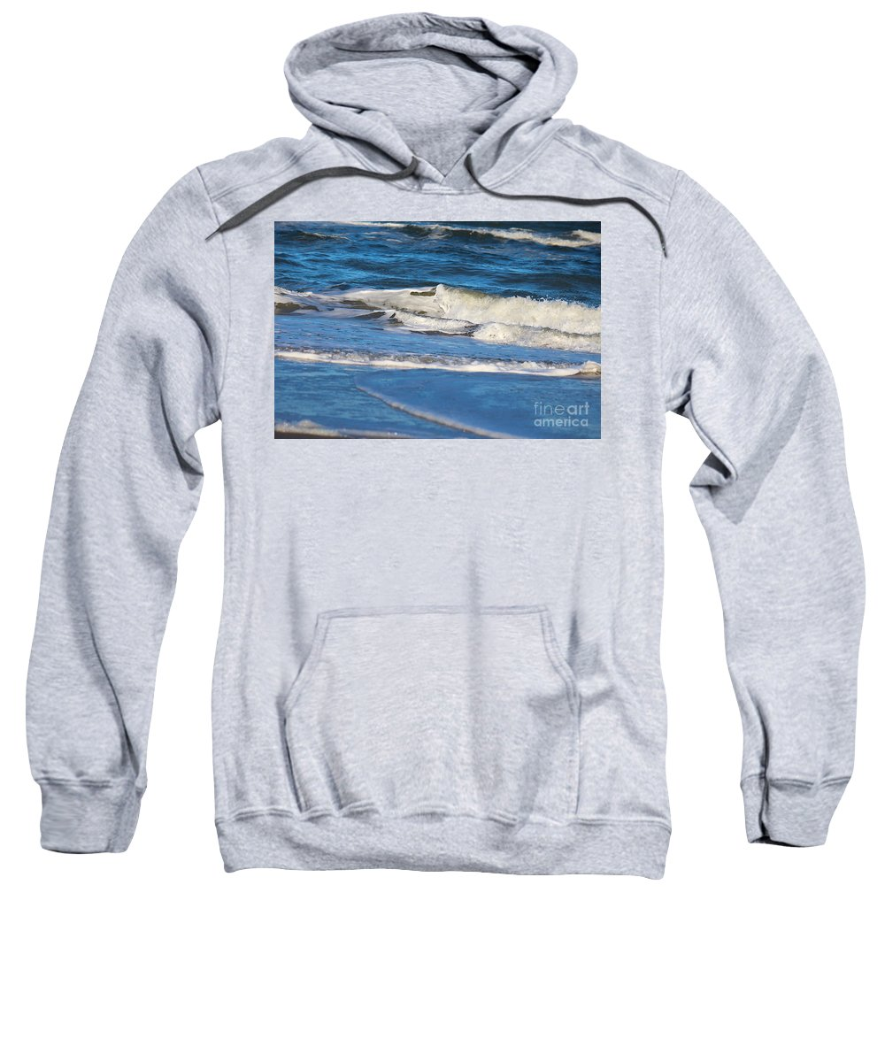 Ocean Sweatshirt featuring the photograph A Splash In The Surf by Karin Everhart