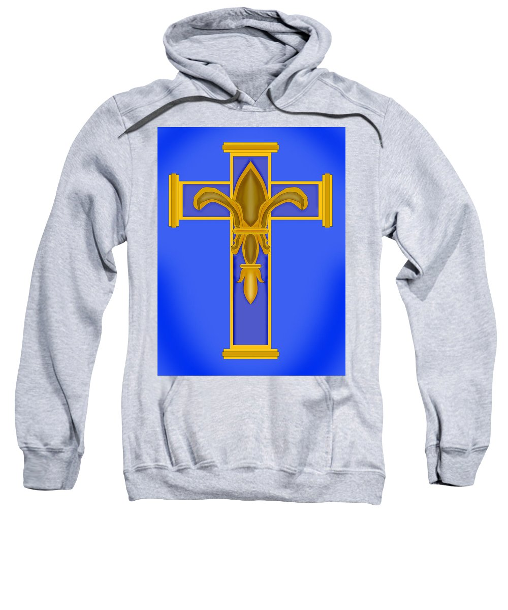 Fleur De Lis Sweatshirt featuring the painting A Touch Of Royalty by Anne Norskog